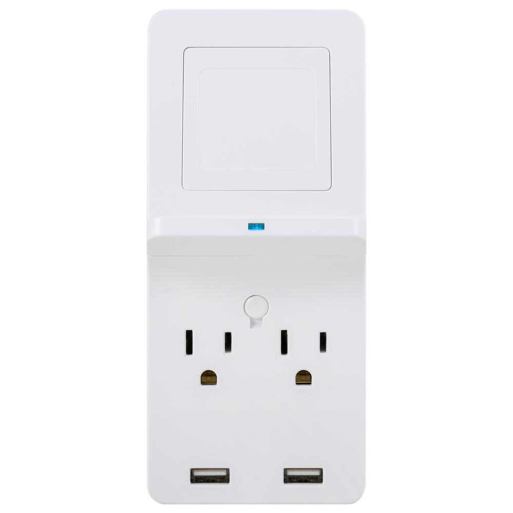 1x Mobile Phone Holder Charger Charging Rack White 2 Gang Electric Socket Shelf