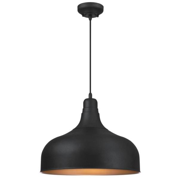 Carmen 1-Light Washed Copper Mini Pendant with Clear Textured Glass Shade