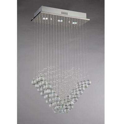 Amanda Modern 3-Light Chrome Chandelier with Shade