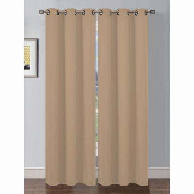 Semi-Opaque Ana Woven Room Darkening Extra Wide Grommet Curtain Panel
