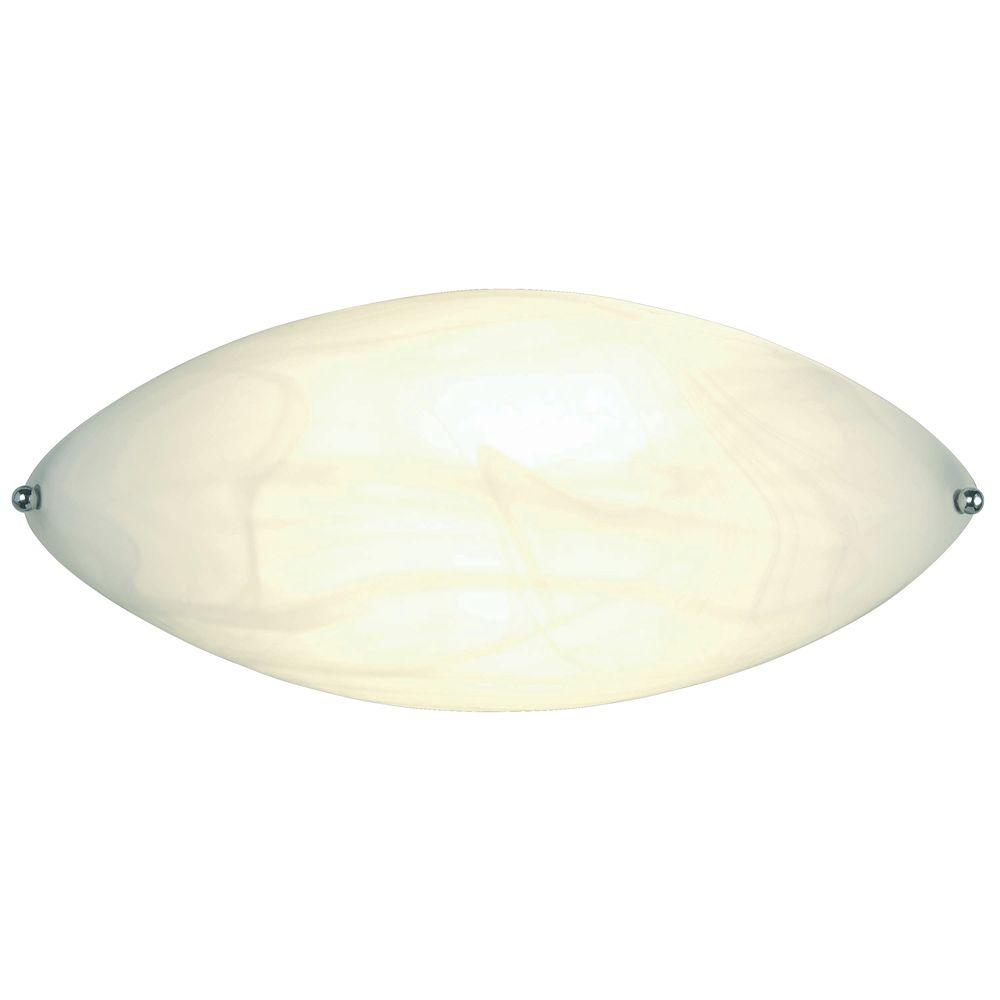 Hampton Bay 1 Light White Elliptical Wall Sconce EW290MAA   The Home Depot