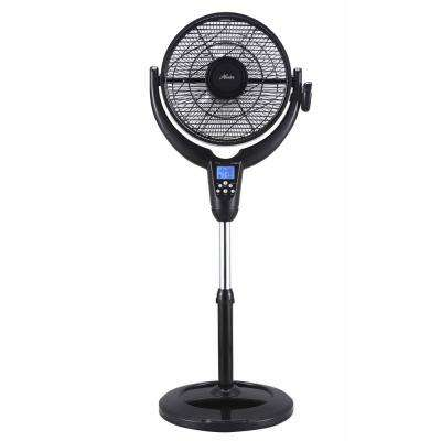 14 in. AirFlo 360 with LCD Display and Thermostat in Black