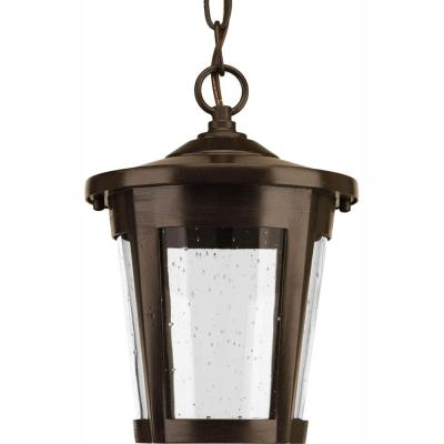 East Haven Collection 1-Light Outdoor Antique Bronze LED Hanging Lantern