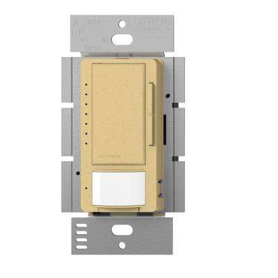 Maestro C.L Dimmer and Vacancy Motion Sensor, Single Pole and Multi-Location, Goldstone