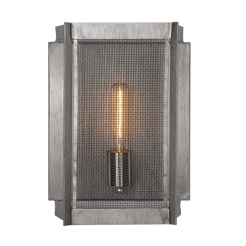 Feiss Loras 1 Light Dark Weathered Iron Wall Sconce