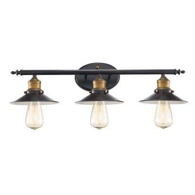 Griswald 3-Light Rubbed Oil Bronze Bath Light
