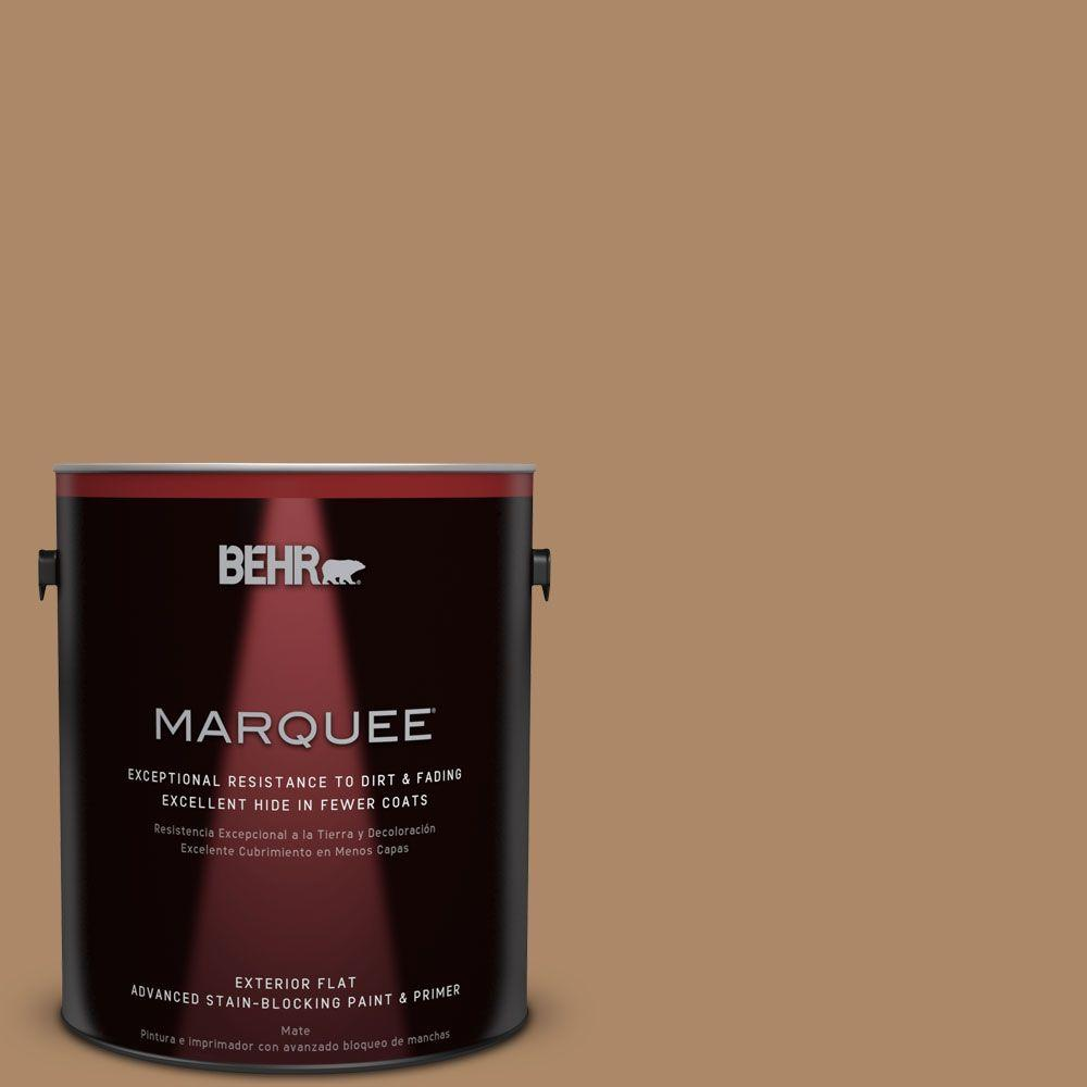 BEHR MARQUEE 1-gal. #BIC-44 Chamois Leather Flat Exterior Paint
