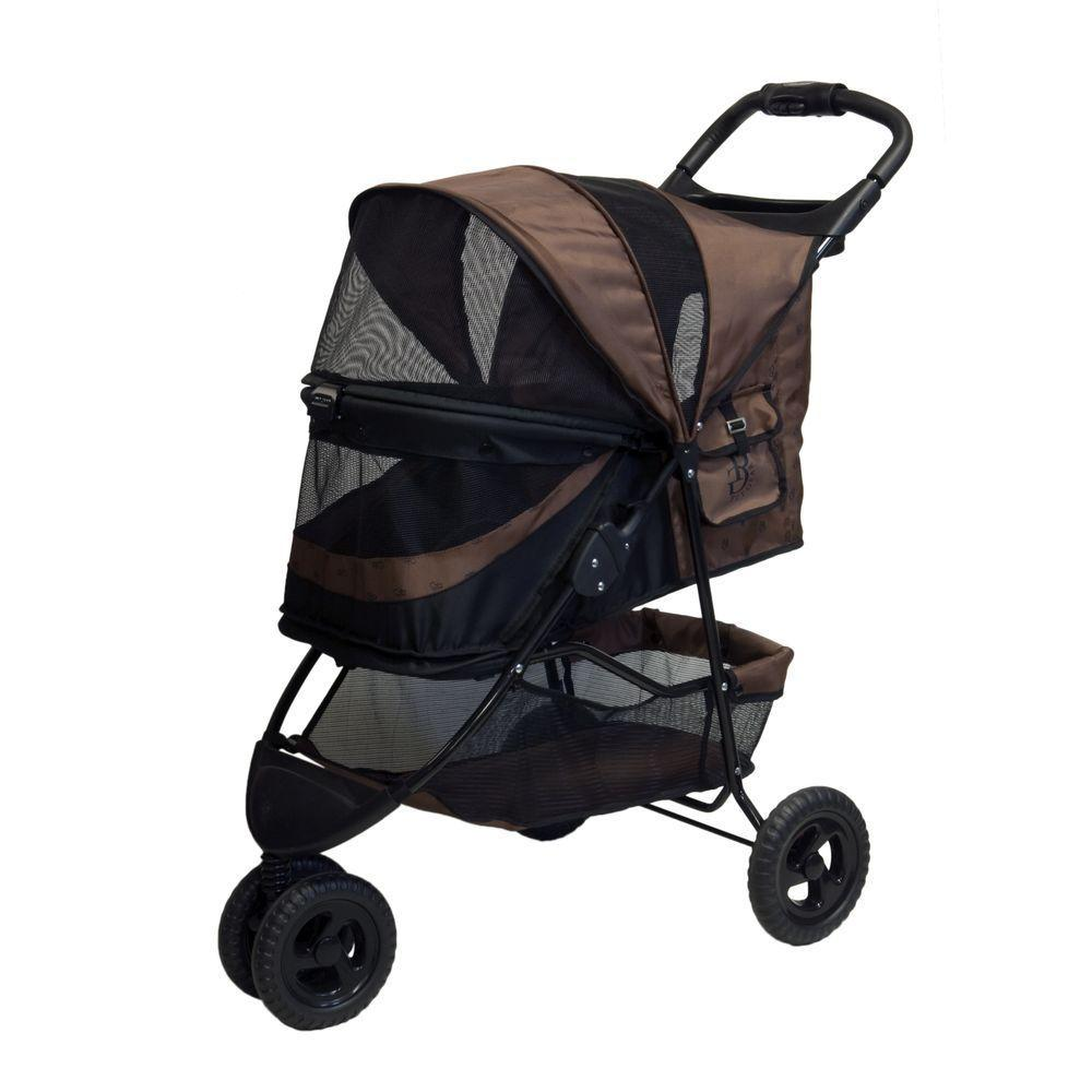 3da0220ac01 Pet Gear No-Zip Special Edition Chocolate Pet Stroller-PG8250NZCH ...