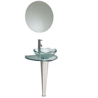 Netto Vessel Sink in Wavy Edge Glass with Mirror