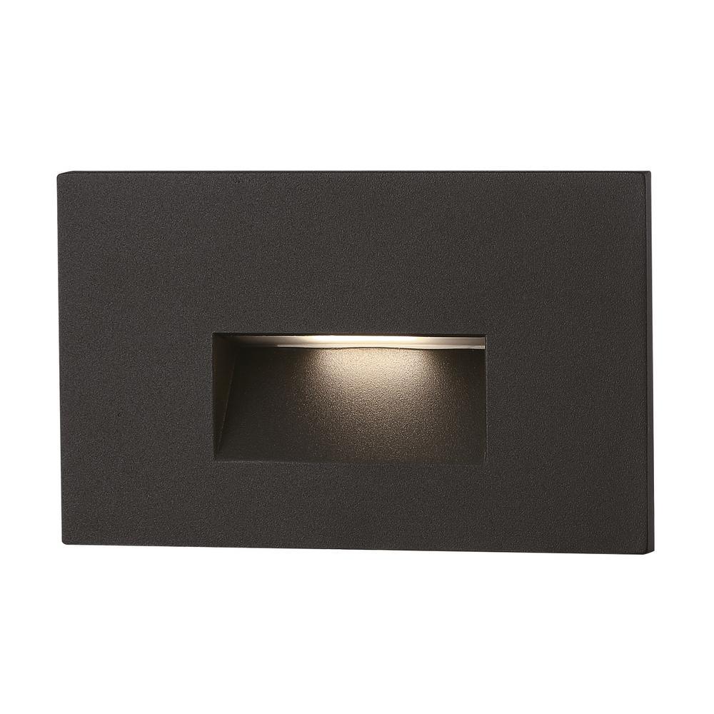 Line-Voltage 2-Watt Black Integrated LED Outdoor Stair Light