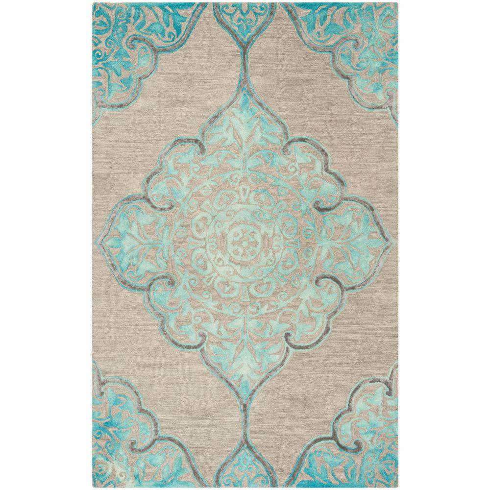 Safavieh Dip Dye Gray Turquoise Area Rug Reviews: Safavieh Dip Dye Gray/Turquoise 5 Ft. X 8 Ft. Area Rug