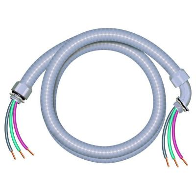 1/2 in. x 4 ft. 10/3 Ultra-Whip Liquidtight Flexible Non-Metallic PVC Conduit Cable Whip