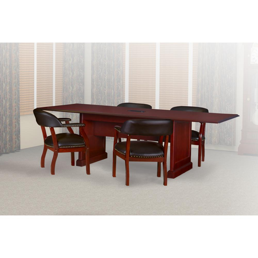 Superbe Prestige Mahogany 96 In. Rectangular Conference Table