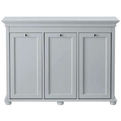 Hampton Harbor 37 in. Triple Tilt-Out Hamper in Dove Grey