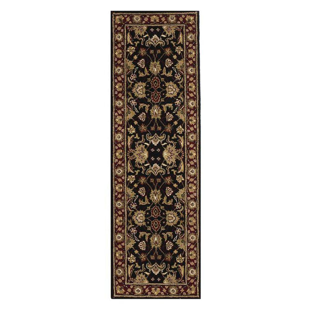 Home Decorators Collection Constantine Black 2 Ft X 12 Ft Runner Rug 3151955210 The Home Depot