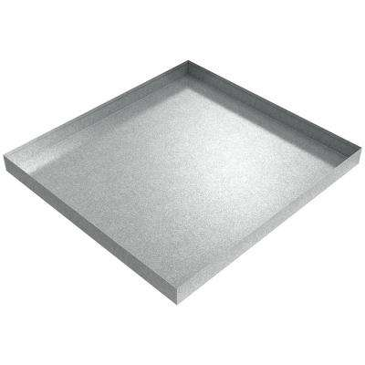 32 in. x 30 in. x 2.5 in. Galvanized Steel Washer Drip Pan