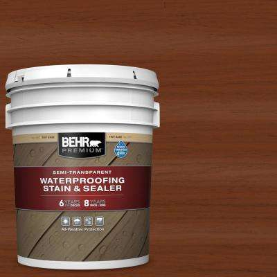 5 gal. #ST-116 Woodbridge Semi-Transparent Waterproofing Exterior Wood Stain and Sealer