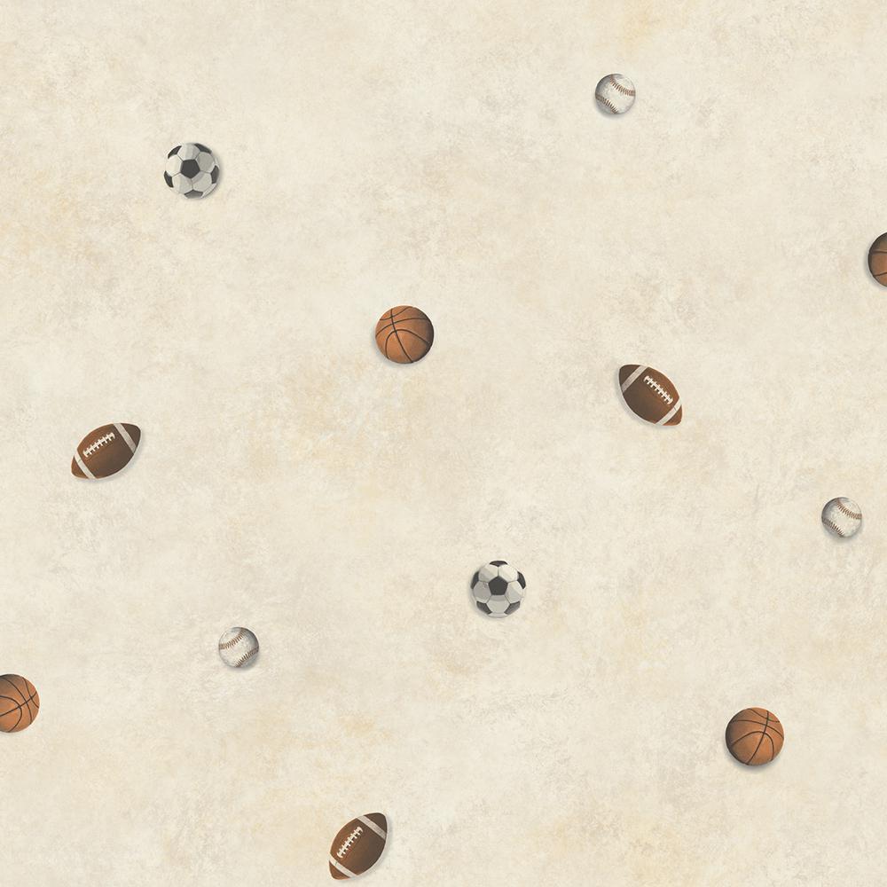 Chesapeake MVP Grey Sports Balls Toss Wallpaper Sample TOT47191SAM