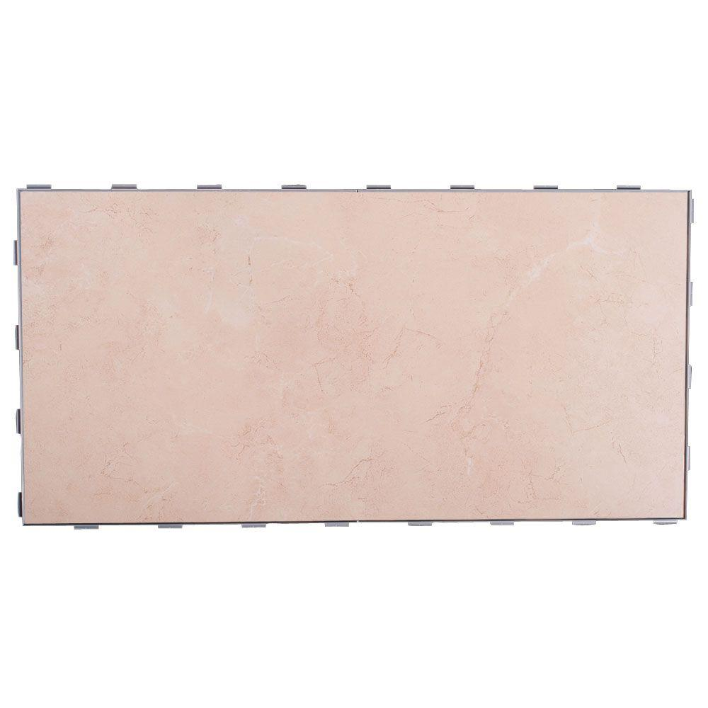 SnapStone Seashell 12 in. x 24 in. Porcelain Floor Tile (8 sq. ft. / case)
