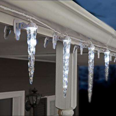 8-Light Shooting Star ClipLights 11 in. 9 in. 7 in. Icicle Light String
