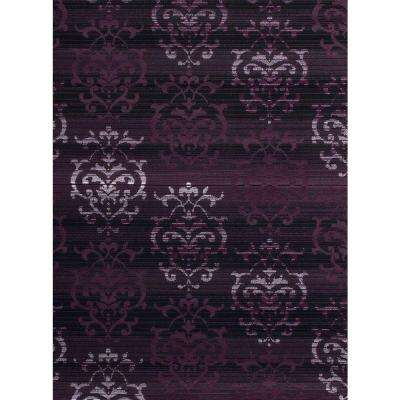 Lovely Countess Plum 5 Ft. 3 In. X 7 Ft. 2 In. Indoor
