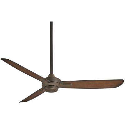 Rudolph 52 in. Indoor Oil Rubbed Bronze with Tobacco Ceiling Fan with Wall Control