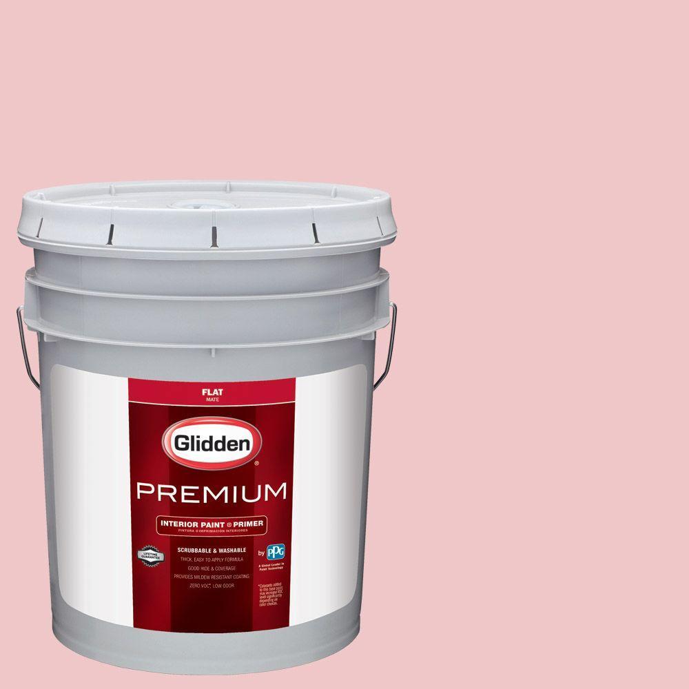 Glidden Premium 5 gal. #HDGR32U Tudor Rose Flat Interior Paint with ...