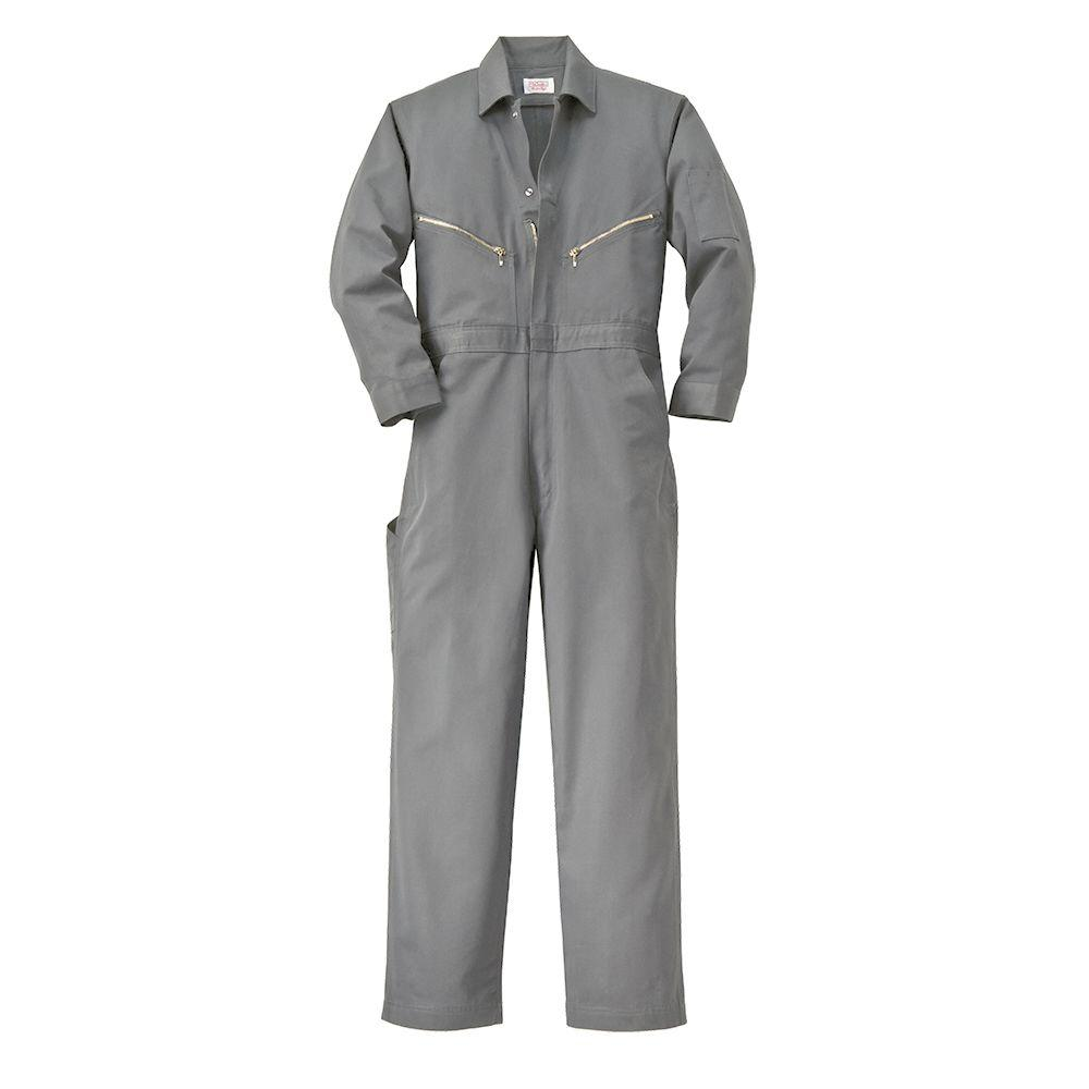 Walls Twill Non-Insulated 66 in. X-Tall Long Sleeve Coverall in Gray