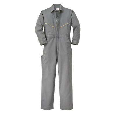 Twill Non-Insulated 46 in. Regular Long Sleeve Coverall in Gray