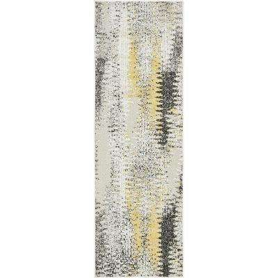 Indoor/Outdoor New York Ivory 2' 0 x 6' 0 Runner Rug