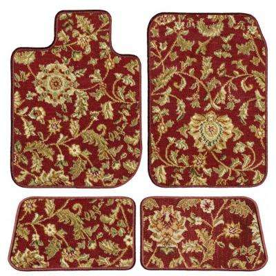Jeep Grand Cherokee Red Oriental Car Mats, Custom Fit for 2011 to 2019 - Driver, Passenger and Rear Carpet Car Mats