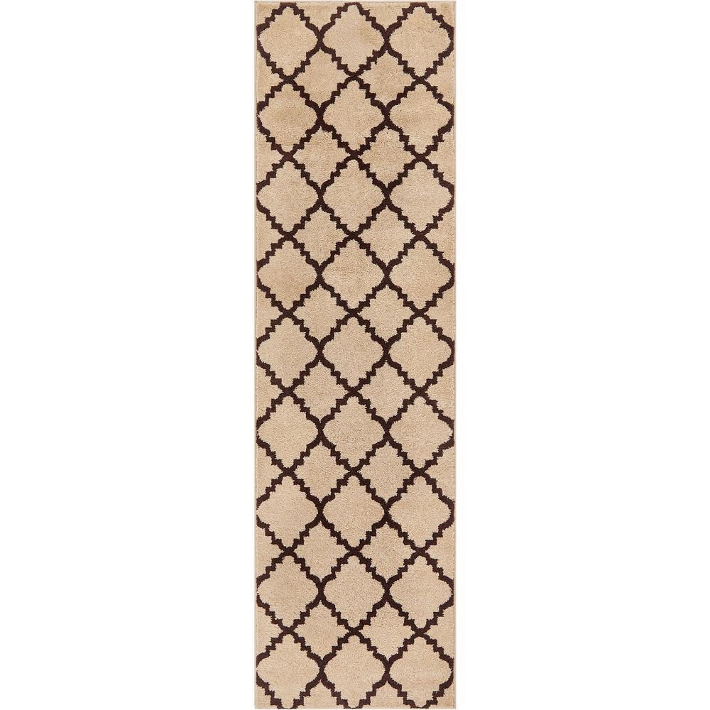 Sydney Lulu's Lattice Moroccan Trellis Ivory 3 ft. x 10 ft. Runner Rug
