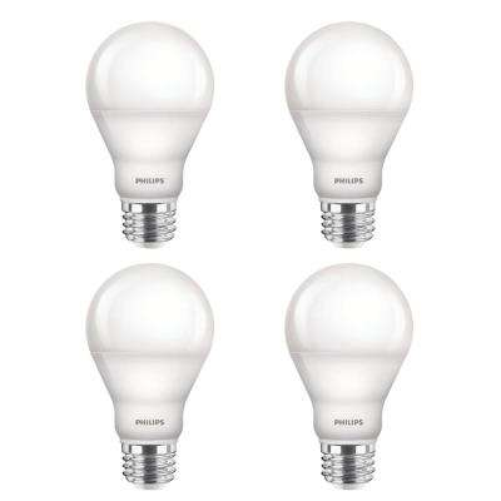 60-Watt Equivalent A19 Dimmable Energy Saving High CRI 90 LED Light Bulb Soft White (2700K) (4-Pack)