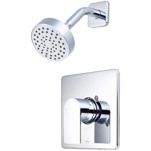 i4 1-Handle Wall Mount Shower Faucet Trim Kit in Polished Chrome (Valve not Included)