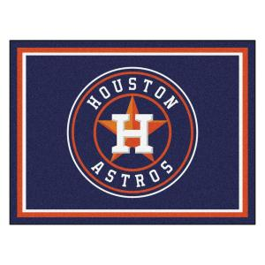 MLB Houston Astros Navy Blue 8 ft. x 10 ft. Indoor Area Rug
