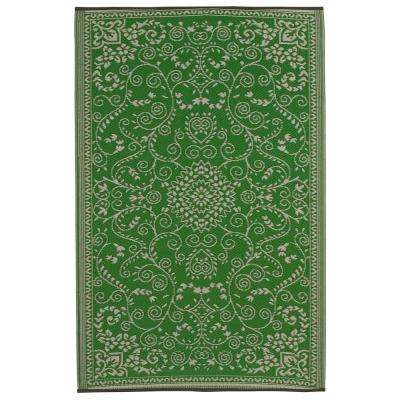 Murano Indoor/Outdoor Lime Green and Cream 6 ft. x 9 ft. Area Rug