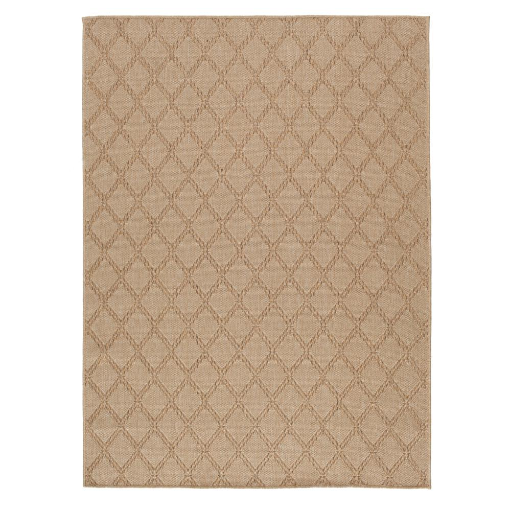Indoor Outdoor Rugs Home Depot: Hampton Bay Diamond Beige 5 Ft. 3 In. X 7 Ft. Indoor