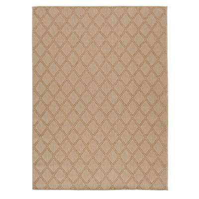 Diamond Beige 8 ft. x 10 ft. Indoor/Outdoor Area Rug