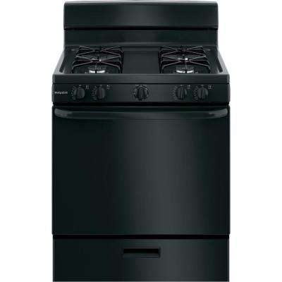 30 in. 4.8 cu. ft. Gas Range Oven in Black