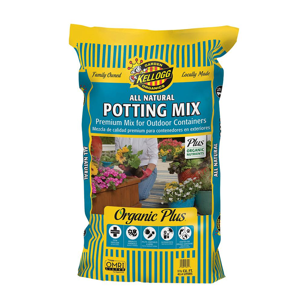 Kellogg Garden Organics 1.5 cu. ft. All Natural Premium Outdoor Potting Mix