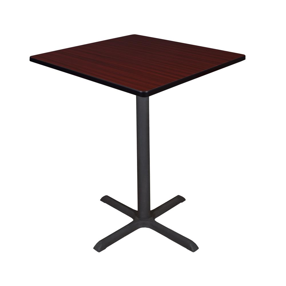 Cain Mahogany 36 in. Square Cafe Table