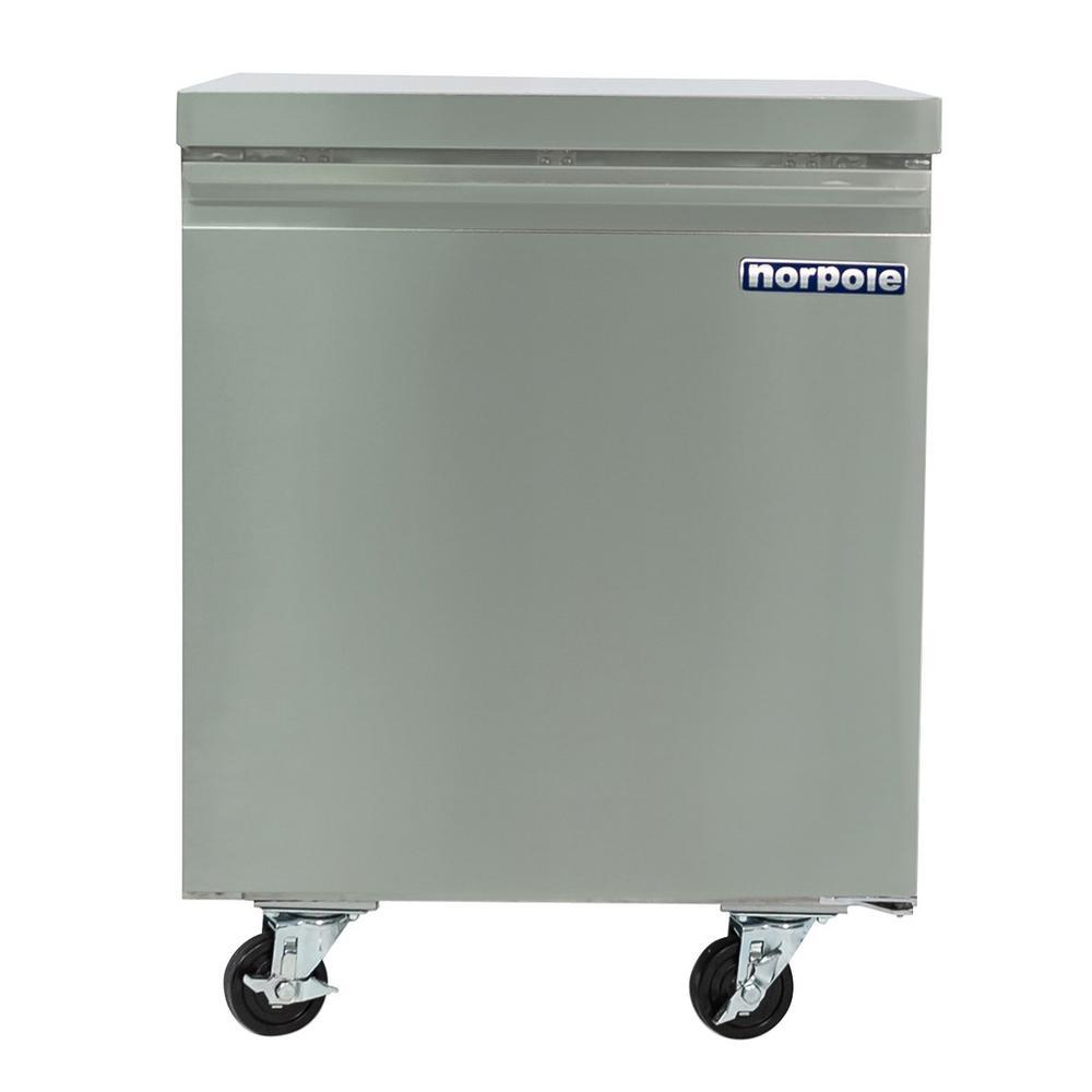 Commercial 6 cu. ft. Single Door Under Counter Refrigerator in Stainless Steel