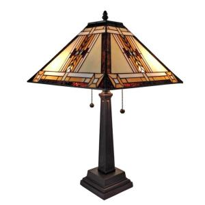 Amora Lighting 22 inch Tiffany Style Mission Design Table Lamp by Amora Lighting