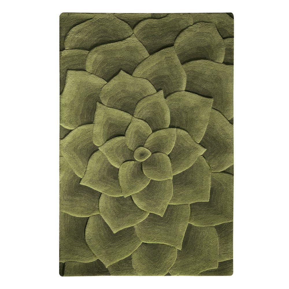 Home Decorators Collection Corolla Green 3 ft. 6 in. x 5 ft. 6 in. Area Rug