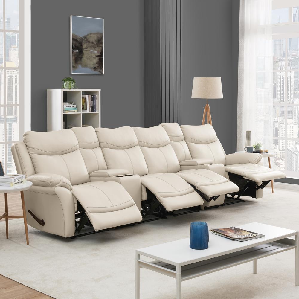 Astounding Prolounger Off White Almond Tuff Stuff Fabric 4 Seat Wall Frankydiablos Diy Chair Ideas Frankydiabloscom