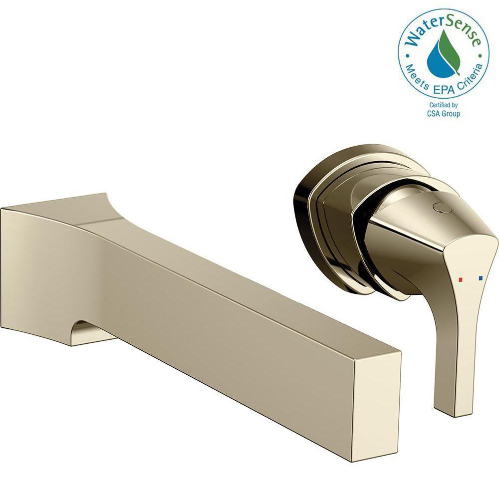 Zura Single-Handle Wall Mount Bathroom Faucet Trim Kit in Polished Nickel