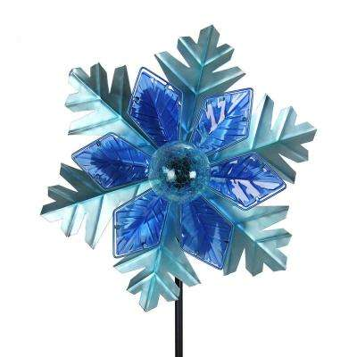 Solar Kinetic 19 in. Christmas Garden Stake - Snowflake