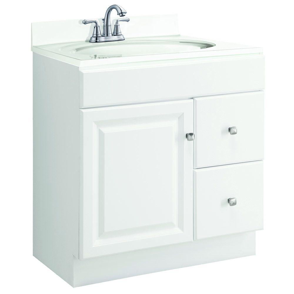 Design House Wyndham 30 in. W x 18 in. D Unassembled Vanity Cabinet ...