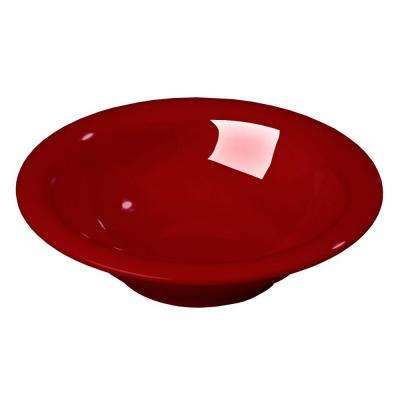 12 oz., 7.25 in. Diameter Wide Rim Melamine Rimmed Bowl in Red (Case of 24)