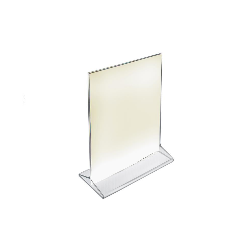 5 in. x 7 in. Vertical Top Load Acrylic Sign Holder